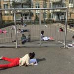 Taaltoets op schoolplein